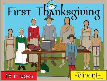 First Thanksgiving Historical Clip Art