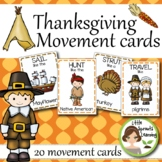 Thanksgiving Movement Cards (Transition Activity or Brain Breaks)