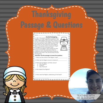 First Thanksgiving Passage & Questions