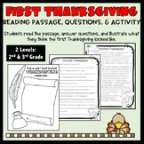 First Thanksgiving Passage, Questions, and Activity