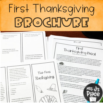 First Thanksgiving Passage and Brochure