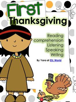 First Thanksgiving {Reading Comprehension, and many more activities for ESL}