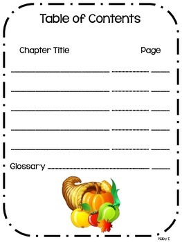 First Thanksgiving Research and Informational Writing Mini-Book Project