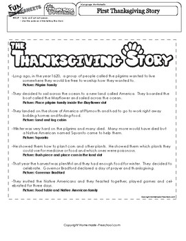 Thanksgiving Story Pictures