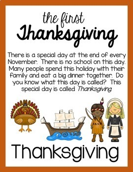 The First Thanksgiving Early Reader Story Posters and Story Coloring Book