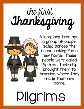 The First Thanksgiving Story Posters and Coloring Book