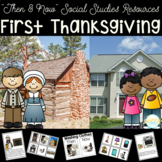 First Thanksgiving Then and Now Sorting Cards Booklet & Re