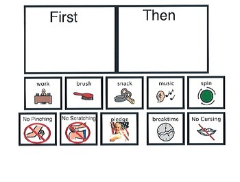 First/Then Activity Board