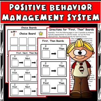 First / Then Behavior Boards: Positive Management Cards for Students with Autism