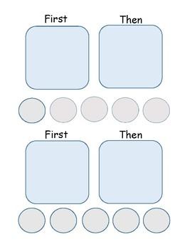 First-Then Behavior Support Token Board
