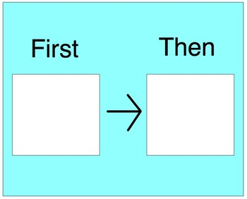 Exhilarating image regarding first then board printable