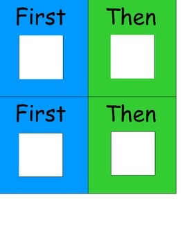 First Then Board (Boardmaker PDF)