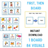 First Then Board | Visual Schedules | Autism Visuals | PECS