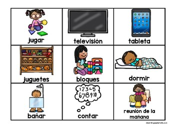 First Then Board in Spanish with Visuals (Primero Luego Comportamiento)
