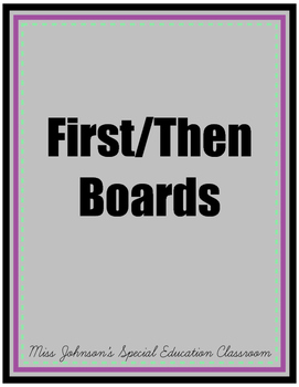First/Then Boards