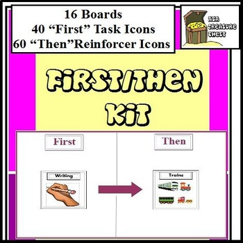 First/Then Boards Kit Autism ABA