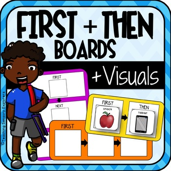 First & Then Boards for students with Autism +'Im Working Towards' Rewards Chart