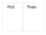 First-Then Chart
