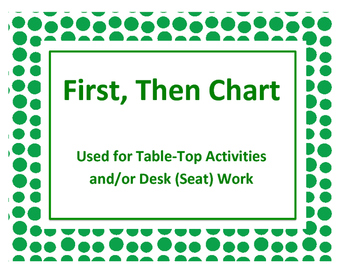 First, Then Chart: Used for Table-Top Activities and/or Desk (Seat) Work.