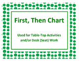 First, Then Chart: Used for Table-Top Activities and/or De
