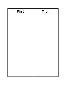 First/Then Choice Board