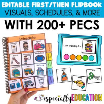 First Then Board & Flip Books