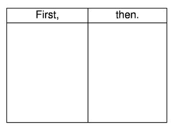 First, Then Mats - Autism/PDD/Developmental Disabilities