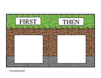 First / Then Minecraft