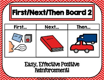First Then Next Board