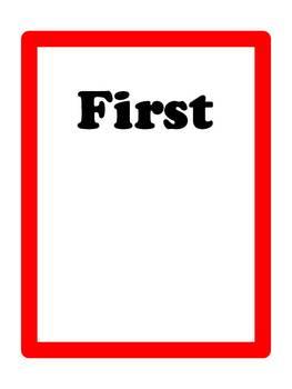First - Then Schedule