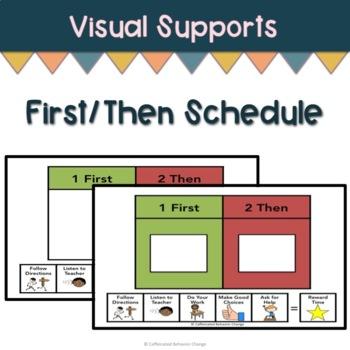 First Then Schedule