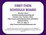 First-Then Schedule Board Freebie