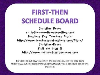 First-Then Schedule Board Freebie