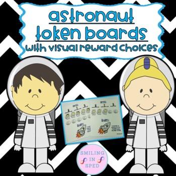 First/Then Token Board- ASTRONAUTS