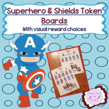 First/Then Token Board- SUPERHERO & SHIELDS