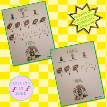 First/Then Token Board- GREEN BAY PACKERS