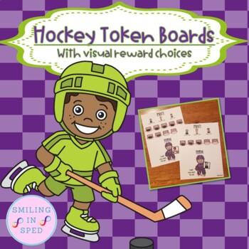 First/Then Token Board- HOCKEY