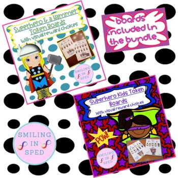 First/Then Token Board- SUPERHERO BUNDLE!! 4 SUPERHEROES to CHOOSE FROM!!!
