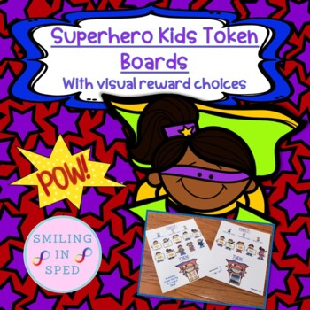 First/Then Token Board- SUPERHERO KIDS