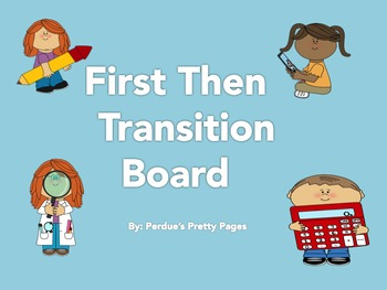 First Then Transition Board (Editable)