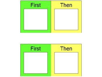 First / Then - Visual Mini Schedule