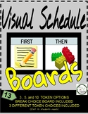 First Then Visual Schedule Boards