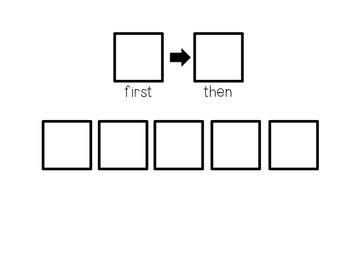 First/Then Visual Token Board