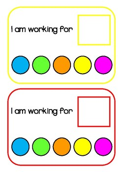 First / Then & Working For / Rewards Charts RAINBOW THEME