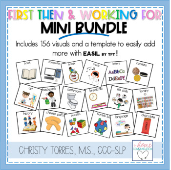 First/Then and I am Working For Mini Bundle for the Special Ed Classroom