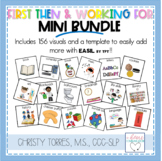 First/Then and I am Working For Mini Bundle for the Specia