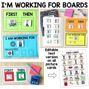 First/ Then and I'm Working for Boards for Special Education