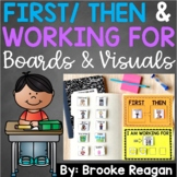 First Then Visual Picture Boards and I'm Working for Reward Boards: Editable