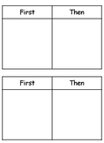 First Then and Simple Schedule Strips (Special Education or Behavioral)