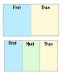 First Then chart